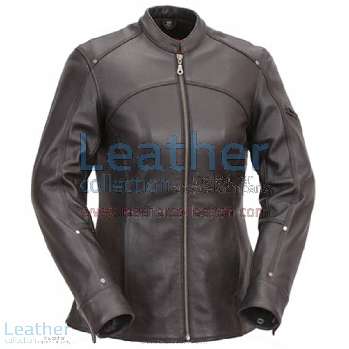 3/4 Length Touring Motorcycle Leather Jacket | 3/4 length leather jacket,3/4 length jacket