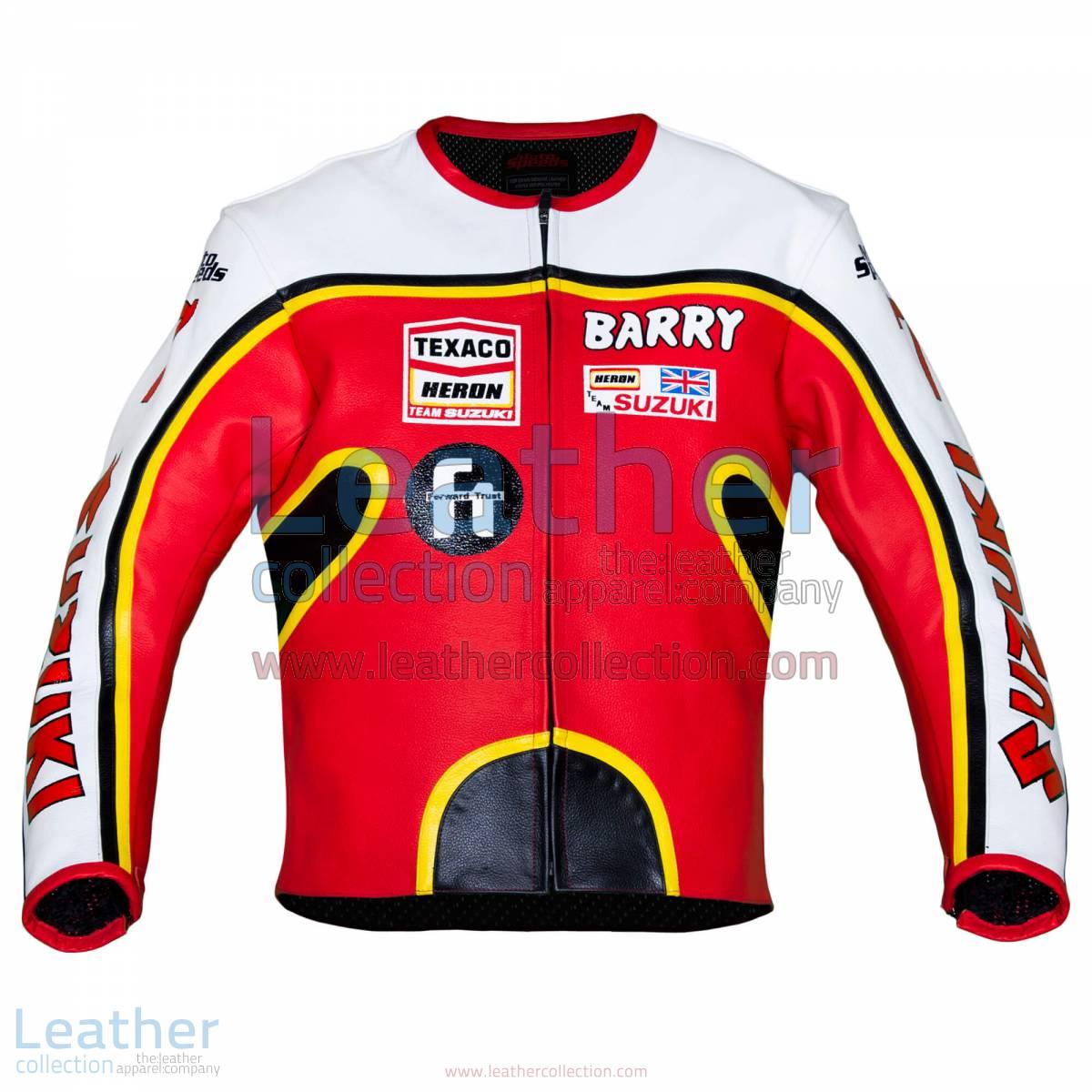 Barry Sheene Suzuki GP 1976 Leather Jacket | Barry Sheene,Barry Sheene Suzuki GP 1976 Leather Jacket