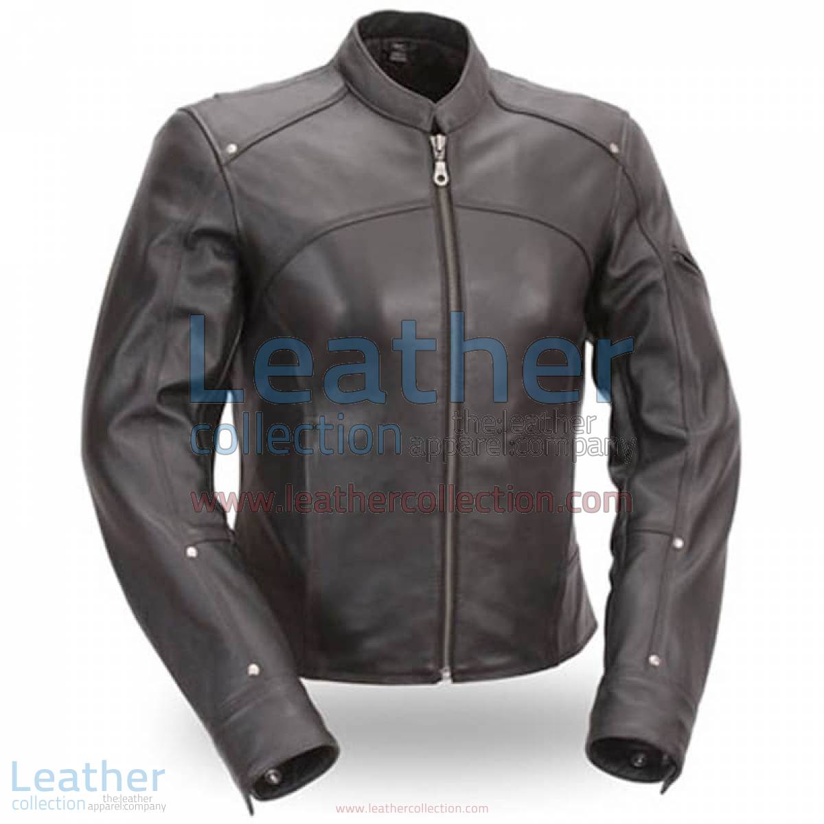 Black Leather Touring Motorcycle Jacket   touring jacket,touring motorcycle jacket