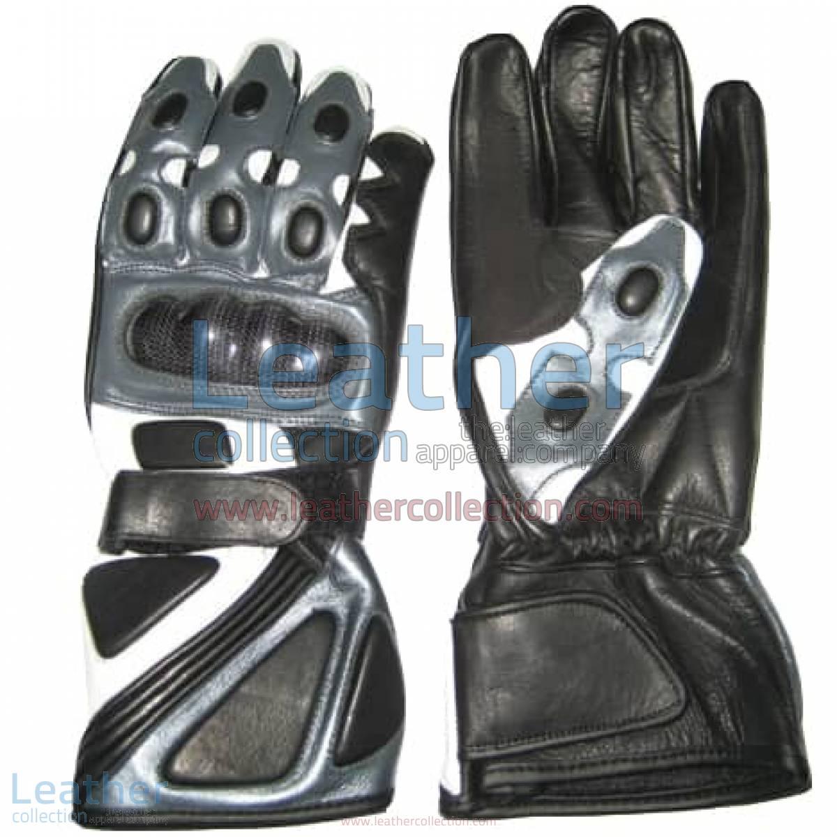 Bravo Grey Motorbike Race Gloves | race gloves,motorcycle race gloves