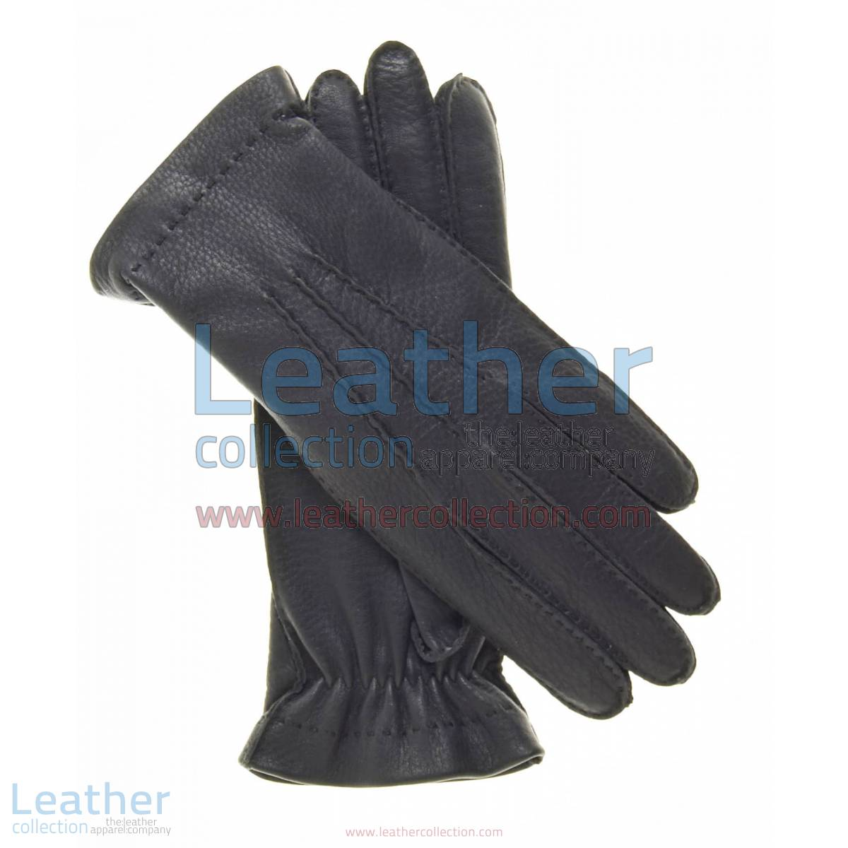 Cashmere Wool Lined Black Leather Gloves | wool lined leather gloves,wool lined gloves