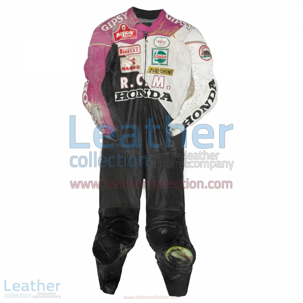 Fred Merkel Honda WSBK 1989 Leather Suit | honda clothing,honda leather suit