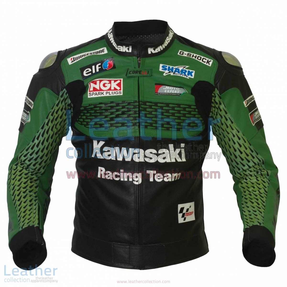 Kawasaki Racing Team Leather Jacket | team leather jacket,kawasaki racing jacket