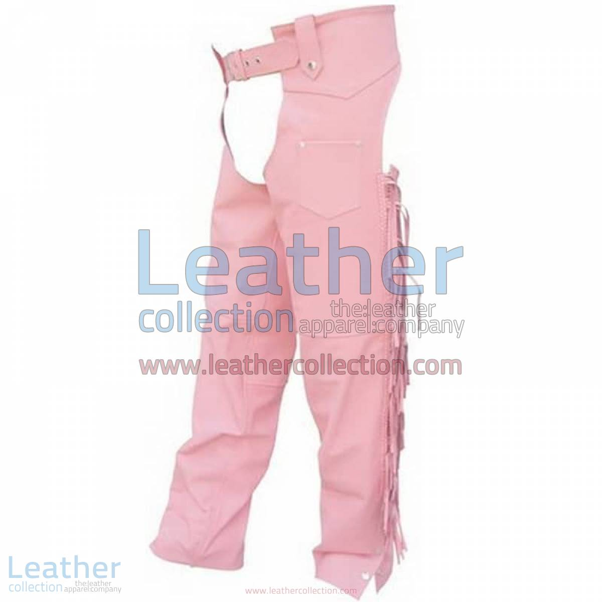 Ladies Pink Braided Leather Chaps | ladies chaps,pink leather chaps