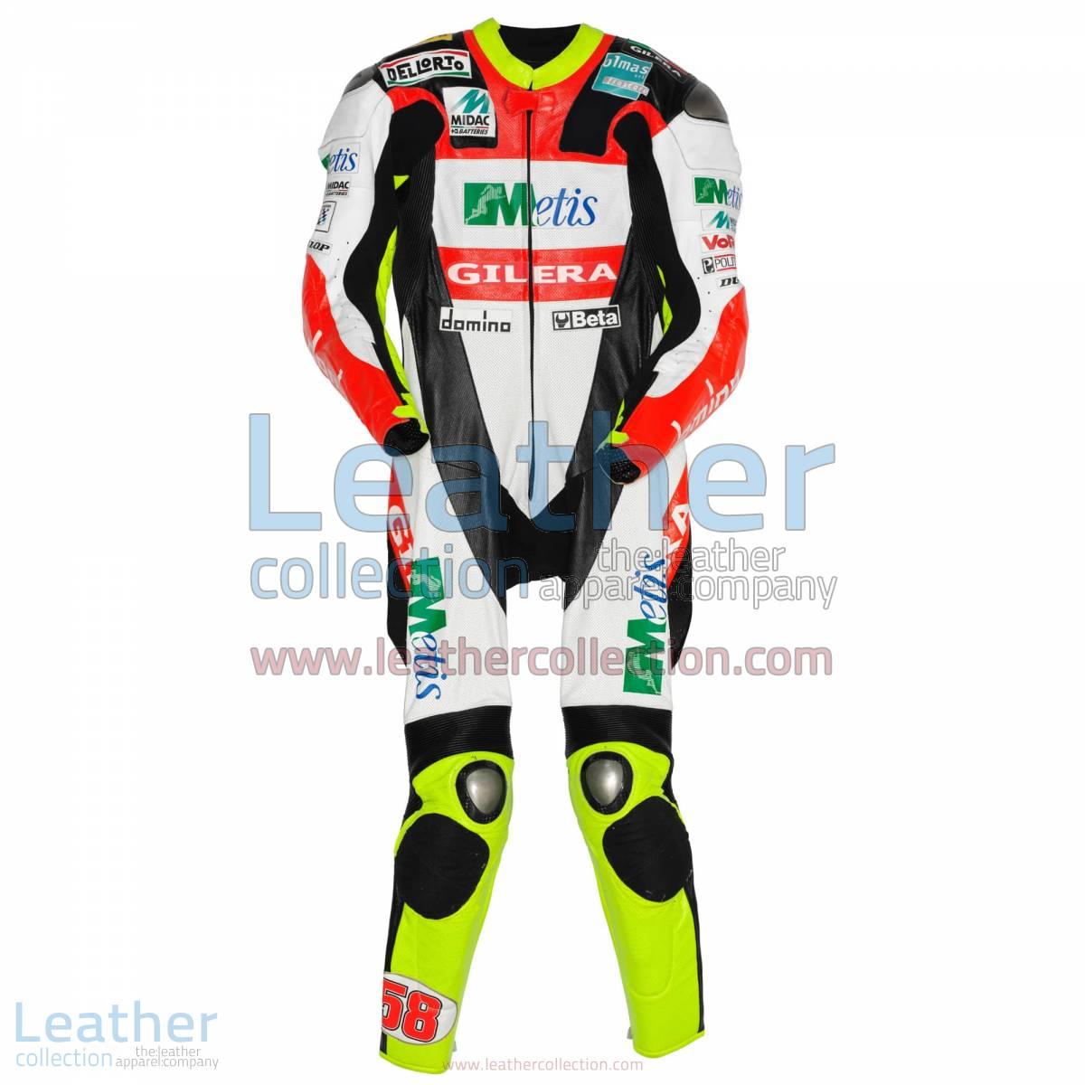 Marco Simoncelli Gilera GP 2008 Leathers | motorcycle clothing,marco simoncelli leathers