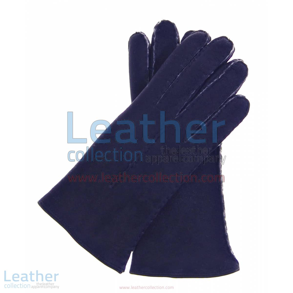 Navy Suede Lamb Shearling Gloves Ladies | suede gloves ladies,Navy Suede Lamb Shearling Gloves Ladies