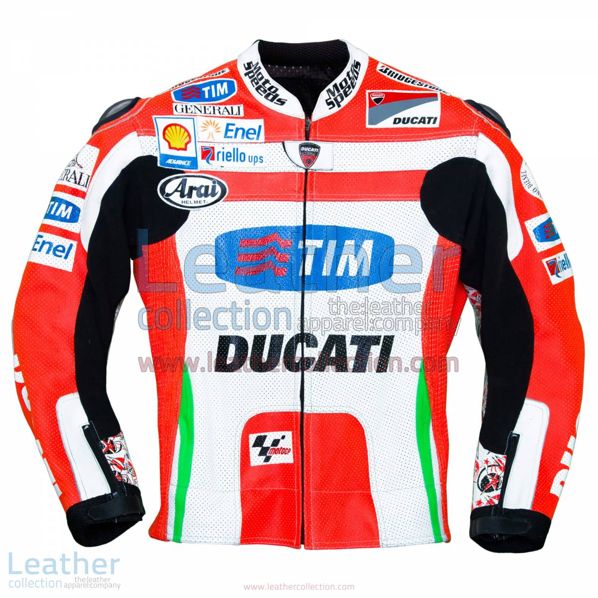 Nicky Hayden Ducati 2012 MotoGP Leather Jacket | Nicky Hayden,Nicky Hayden Ducati 2012 MotoGP Leather Jacket