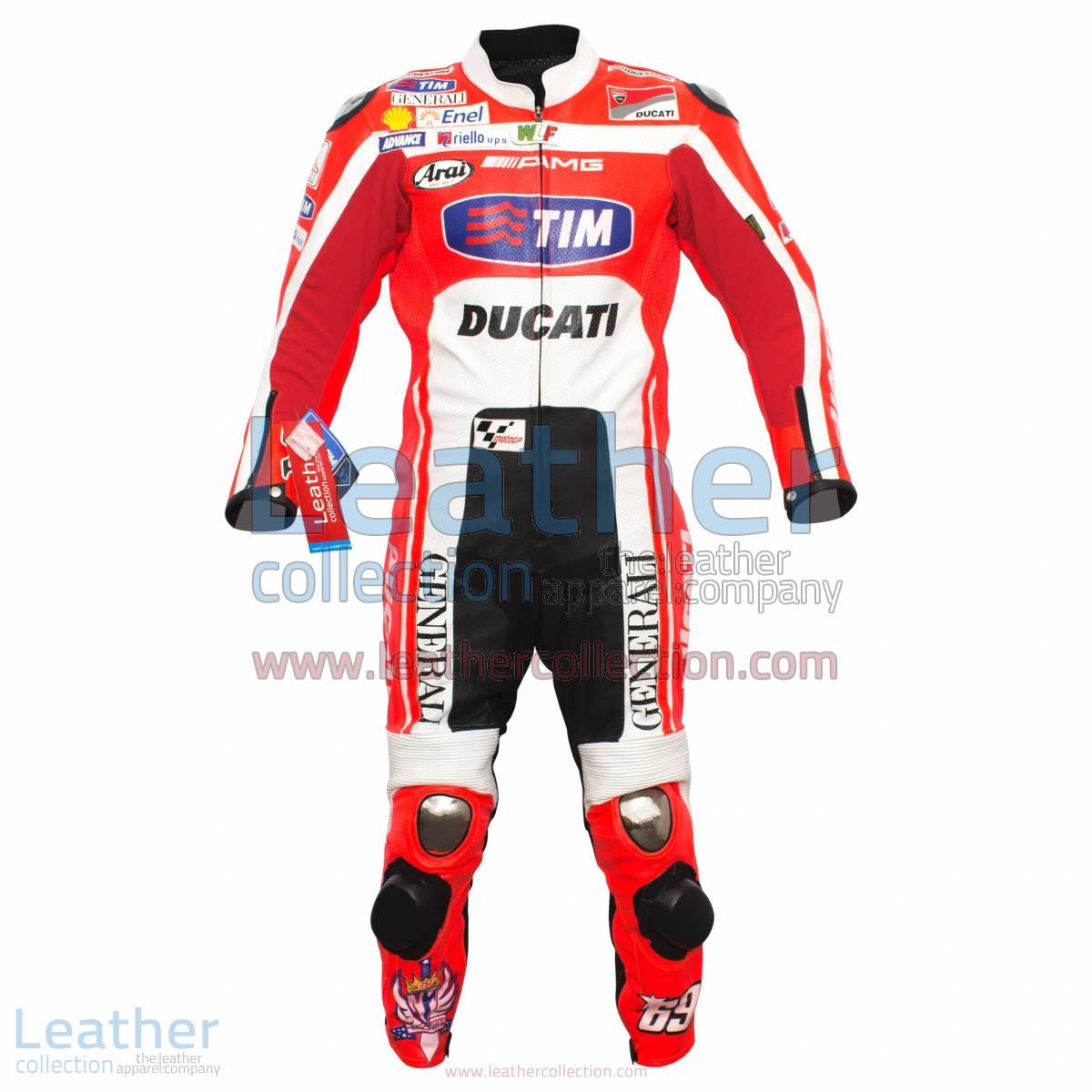 Nicky Hayden Ducati MotoGP 2012 Race Leather Suit | nicky hayden,ducati leather suit