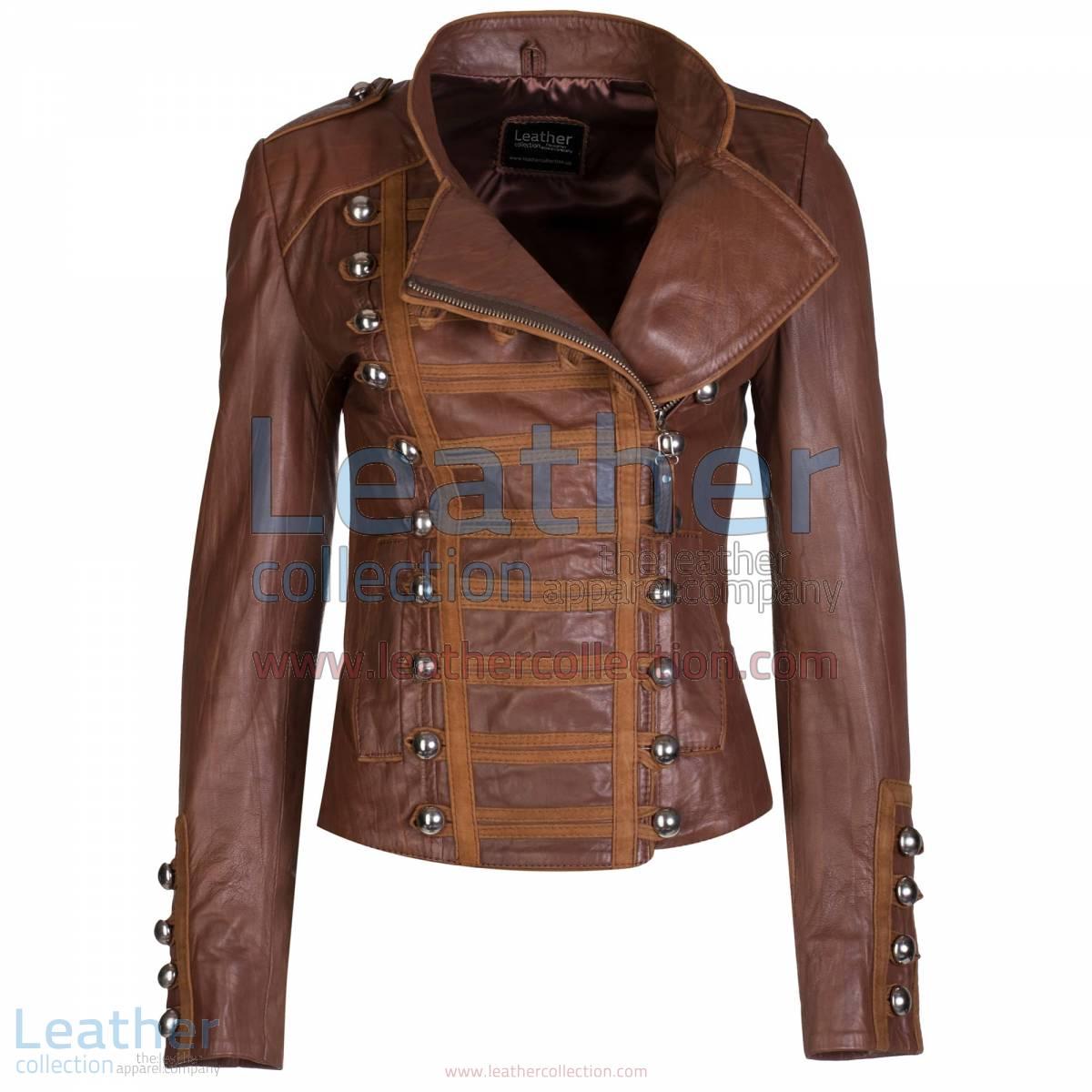 Princess Antique Brown Leather Jacket | antique leather jacket,princess jacket