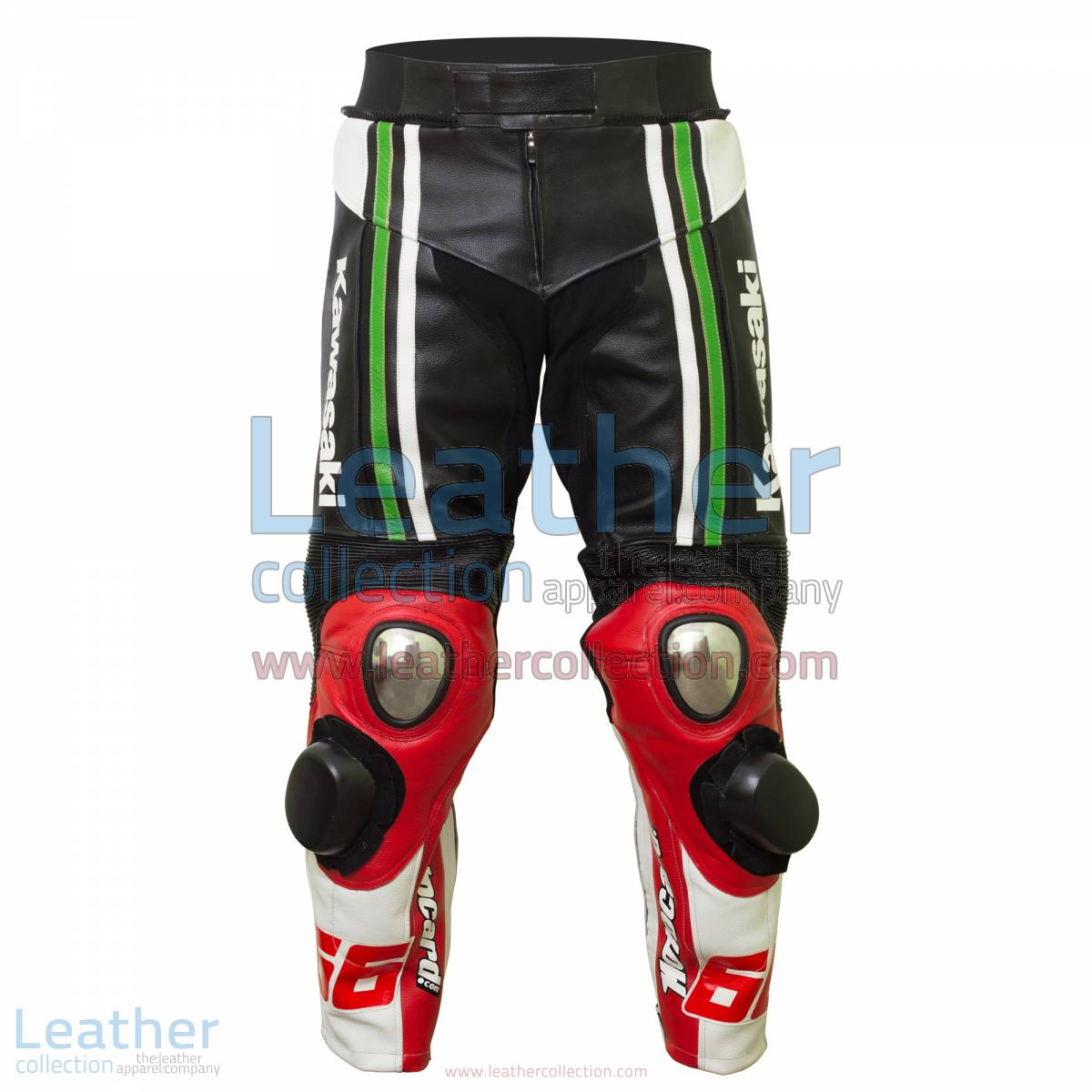 Tom Sykes Kawasaki 2015 SBK Leather Pants | biker leather pants,kawasaki pants