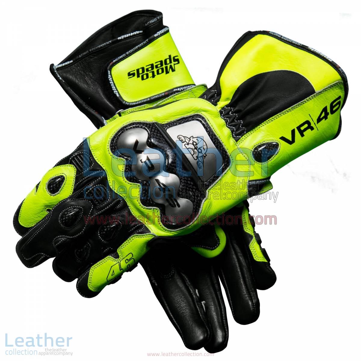 Valentino Rossi 2018 MotoGP Leather Gloves | valentino rossi gloves,Valentino Rossi 2018 MotoGP Leather Gloves