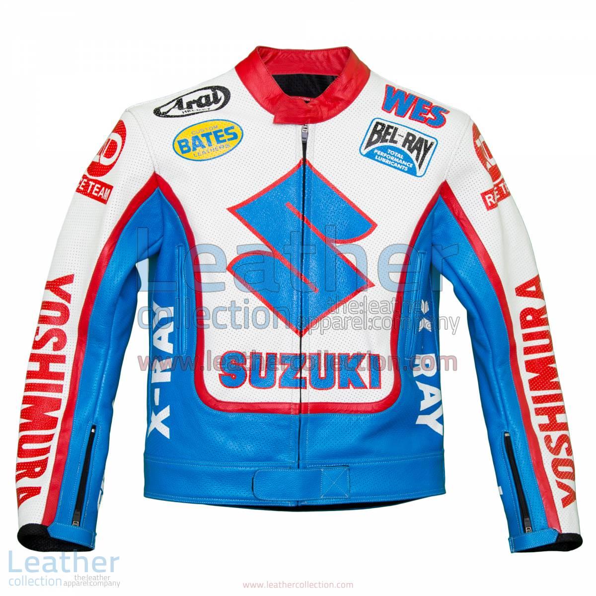 Wes Cooley Yoshimura Suzuki AMA Race Jacket | Suzuki race jacket,Wes Cooley Yoshimura Suzuki AMA race jacket
