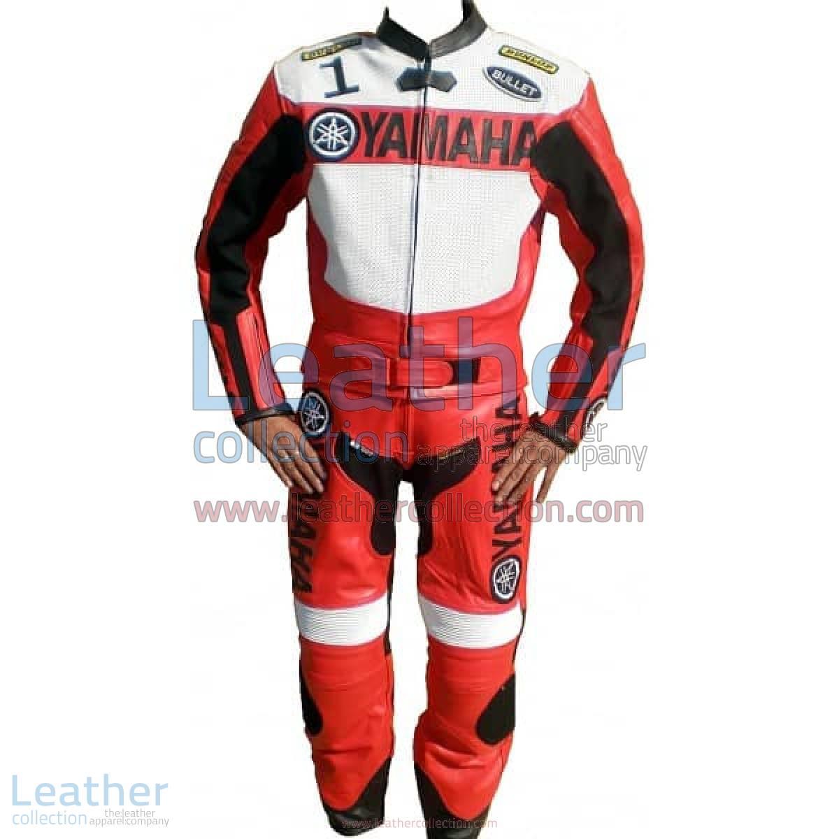 Yamaha Motorbike Leather Suit Red / White | yamaha apparel,yamaha leather suit