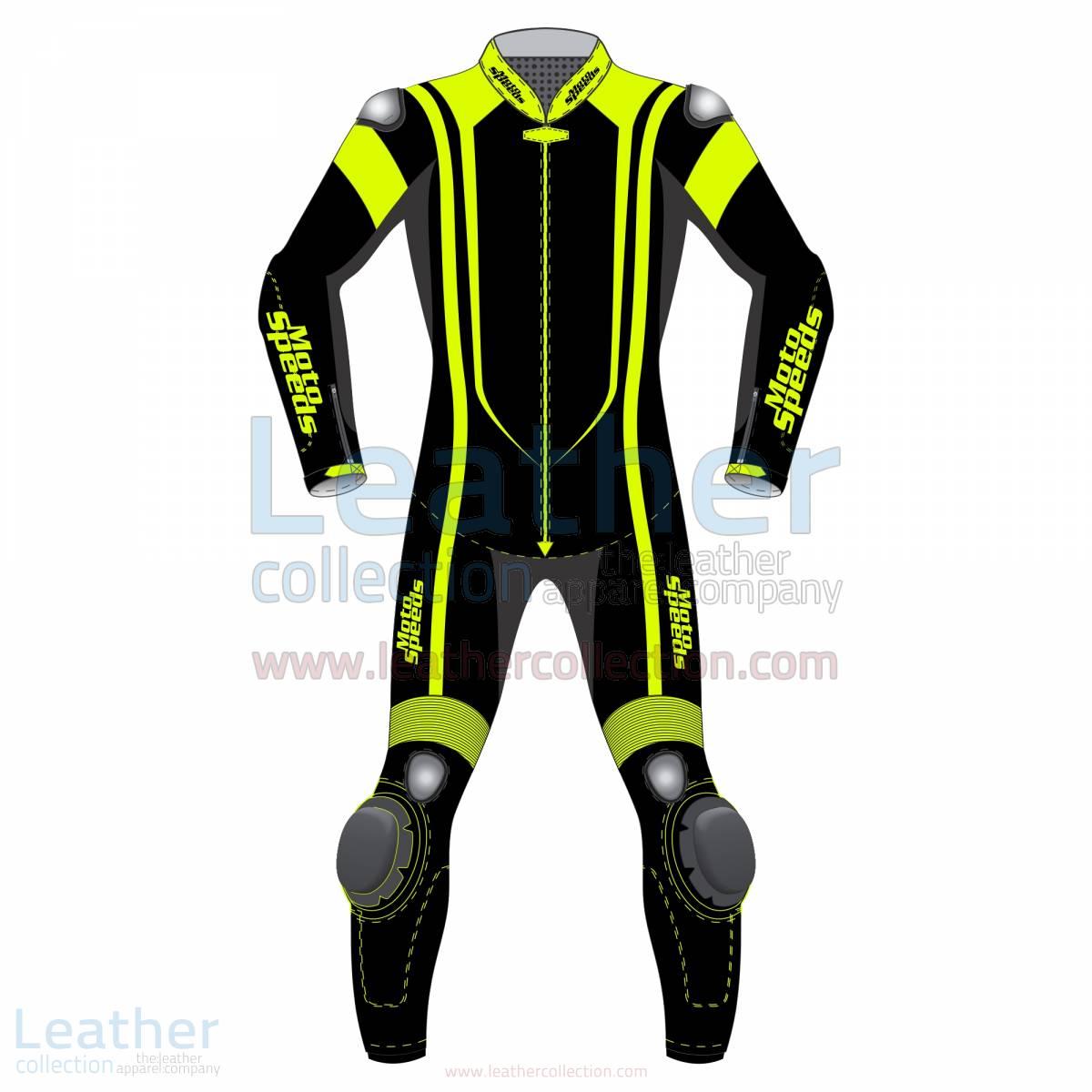 Alpha Neon Leather Motorbike Suit