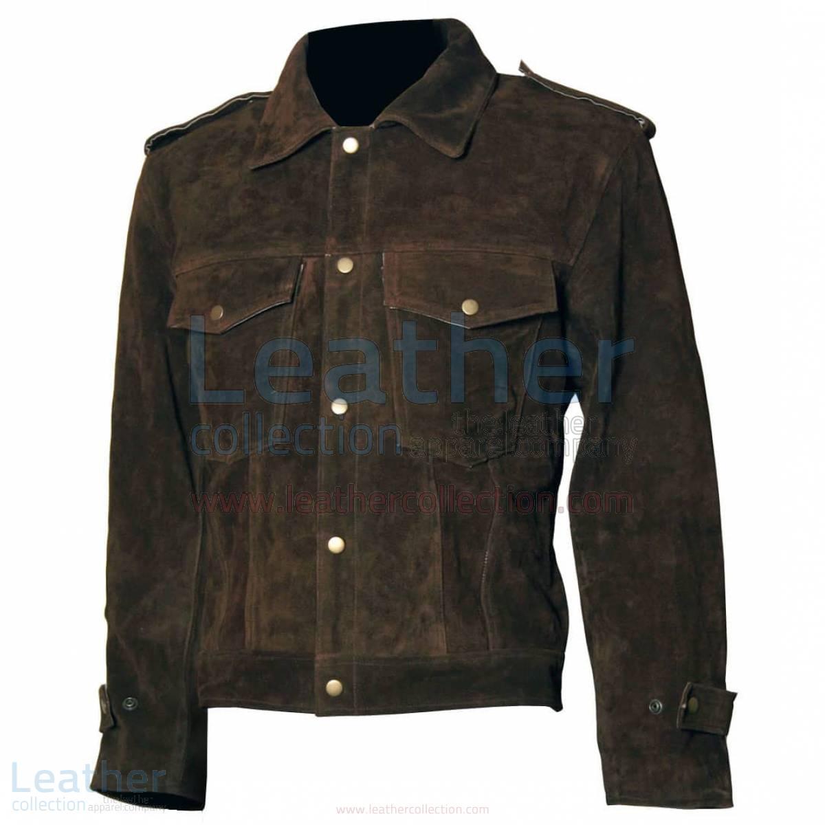 Beatles John Lennon Rubber Soul Leather Brown Suede Jacket –  Jacket