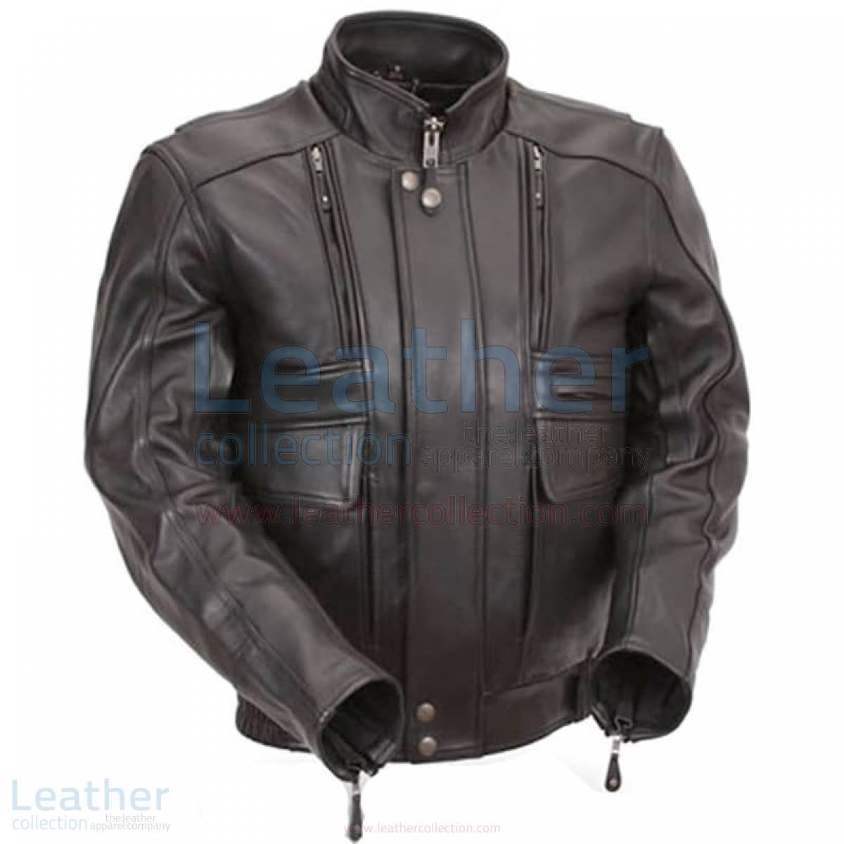 Biker Naked Leather Jacket with Side Stretch Panels –  Jacket