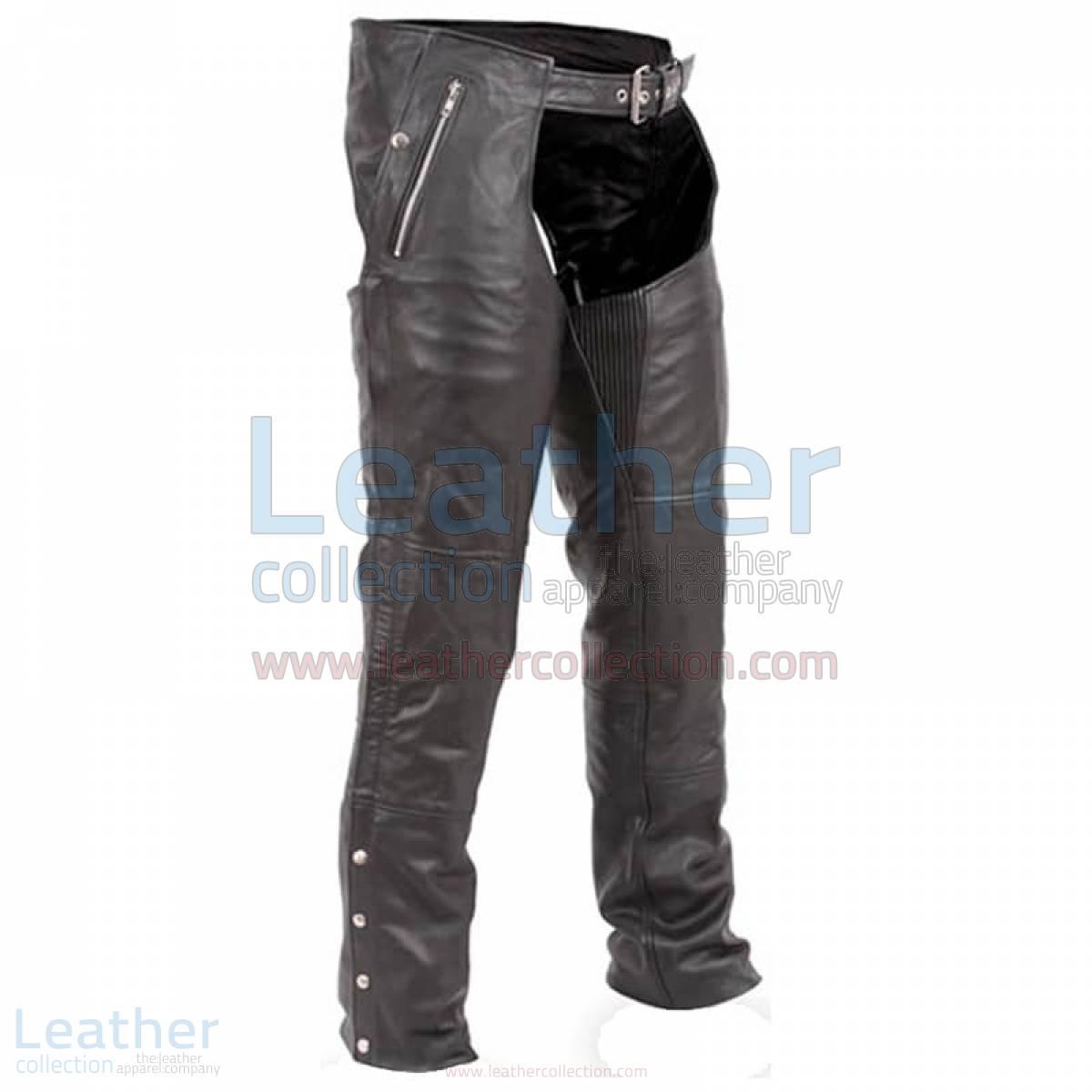 Black Premium Biker Leather Chaps –  Chap