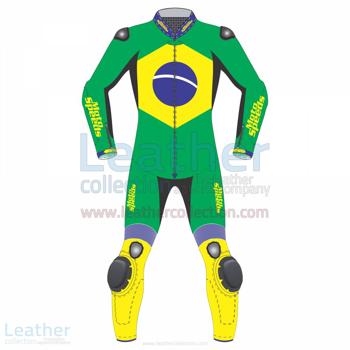 Brazil Flag Moto Race Suit –  Suit