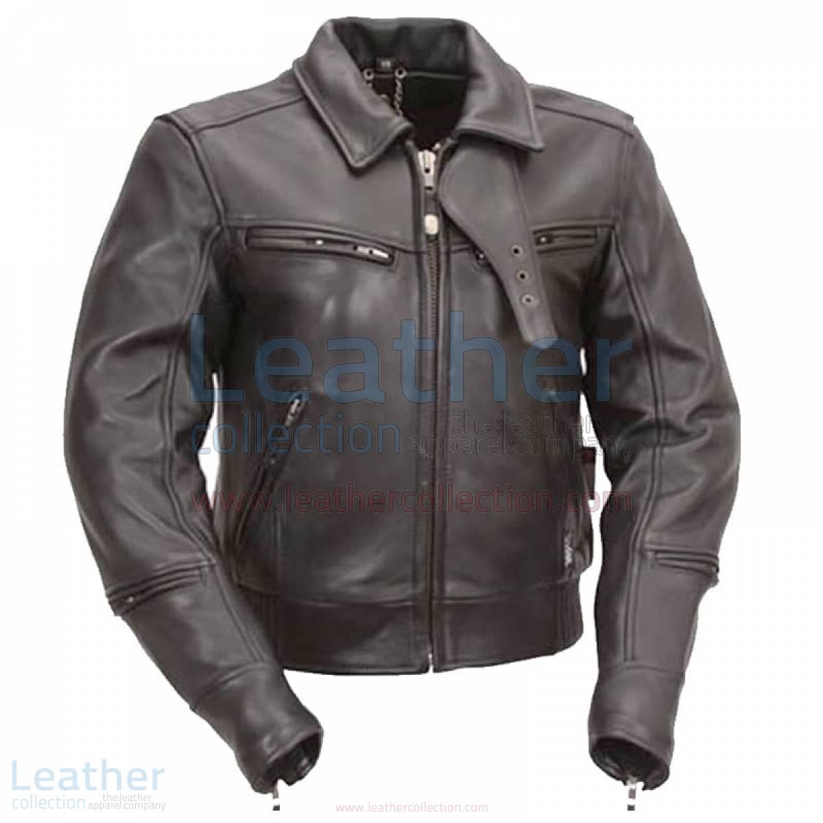 mens biker jacket black
