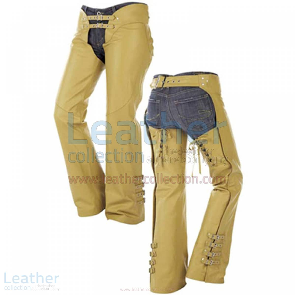 Buckles on Legs Leather Cowboy Chaps –  Chap