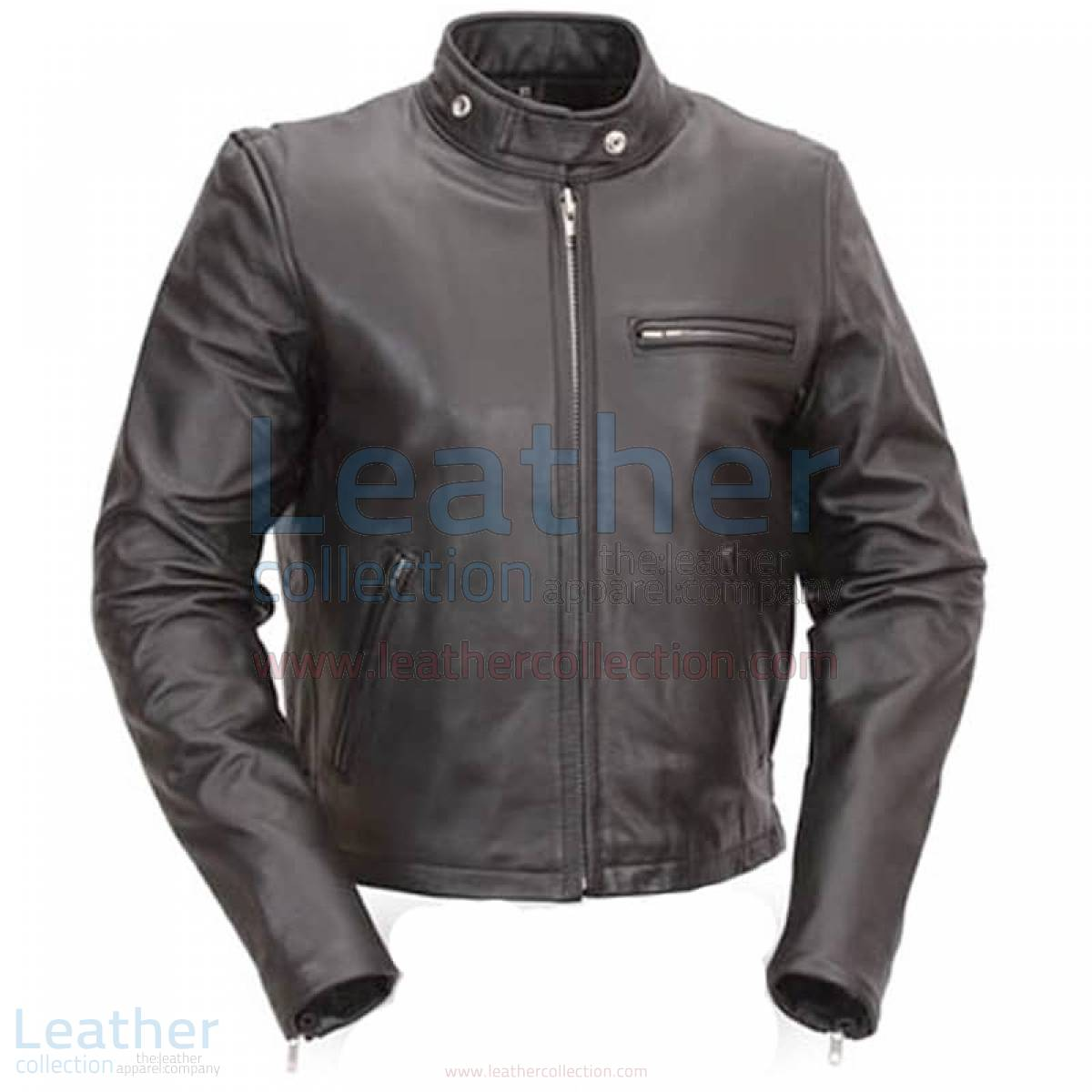 Classic Leather Scooter Jacket