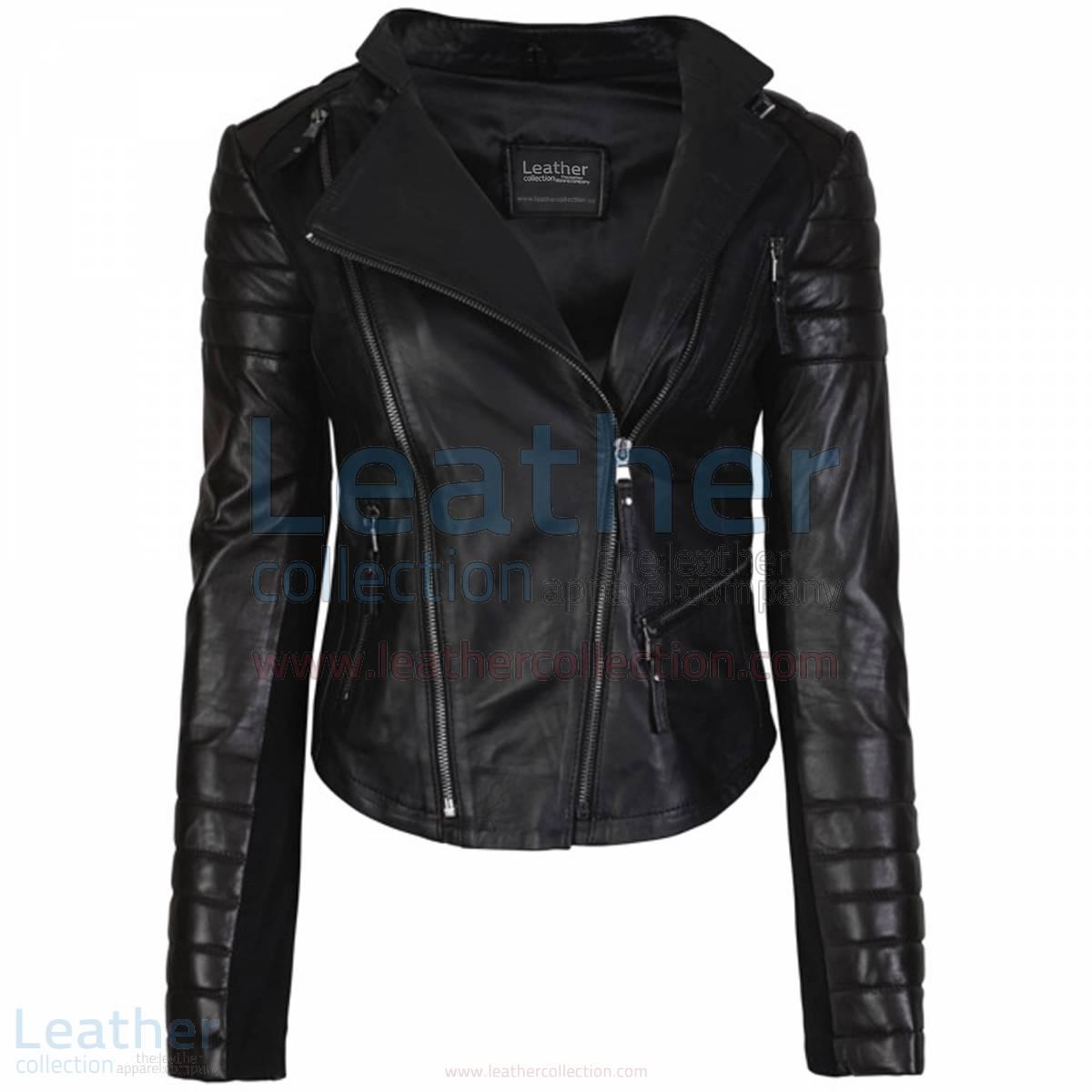 Kelly Fashion Ladies Leather Motorcycle Jacket Black –  Jacket