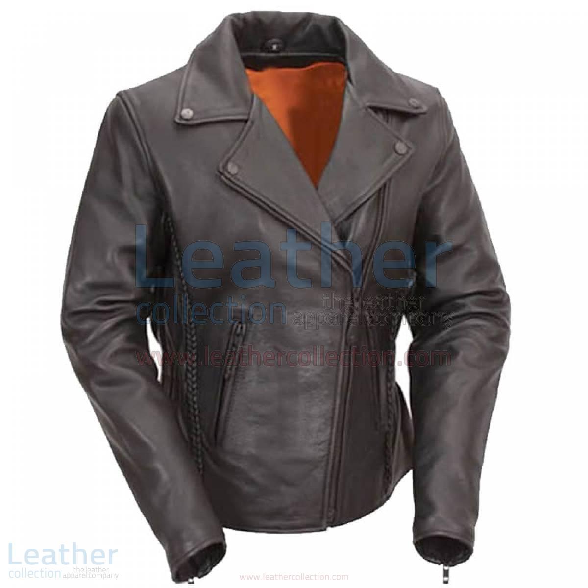 Hourglass Ladies Leather Biker Jacket –  Jacket