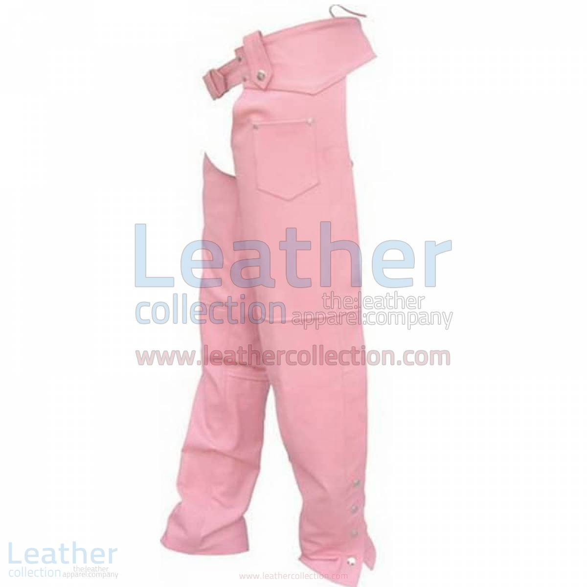 Ladies Pink Leather Chaps –  Chap