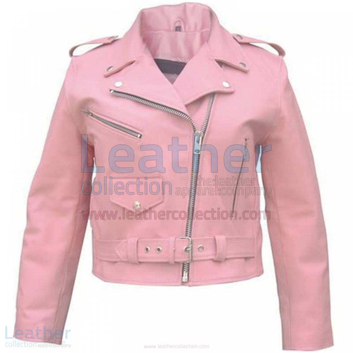 Ladies Pink Girls Motorcycle Jacket –  Jacket