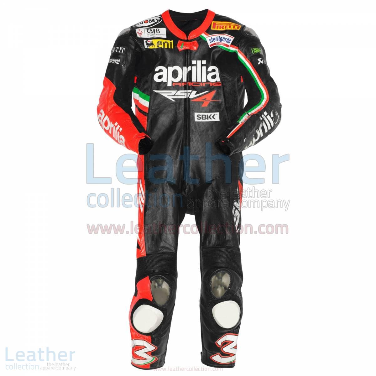 Max Biaggi Aprilia 2012 race leathers