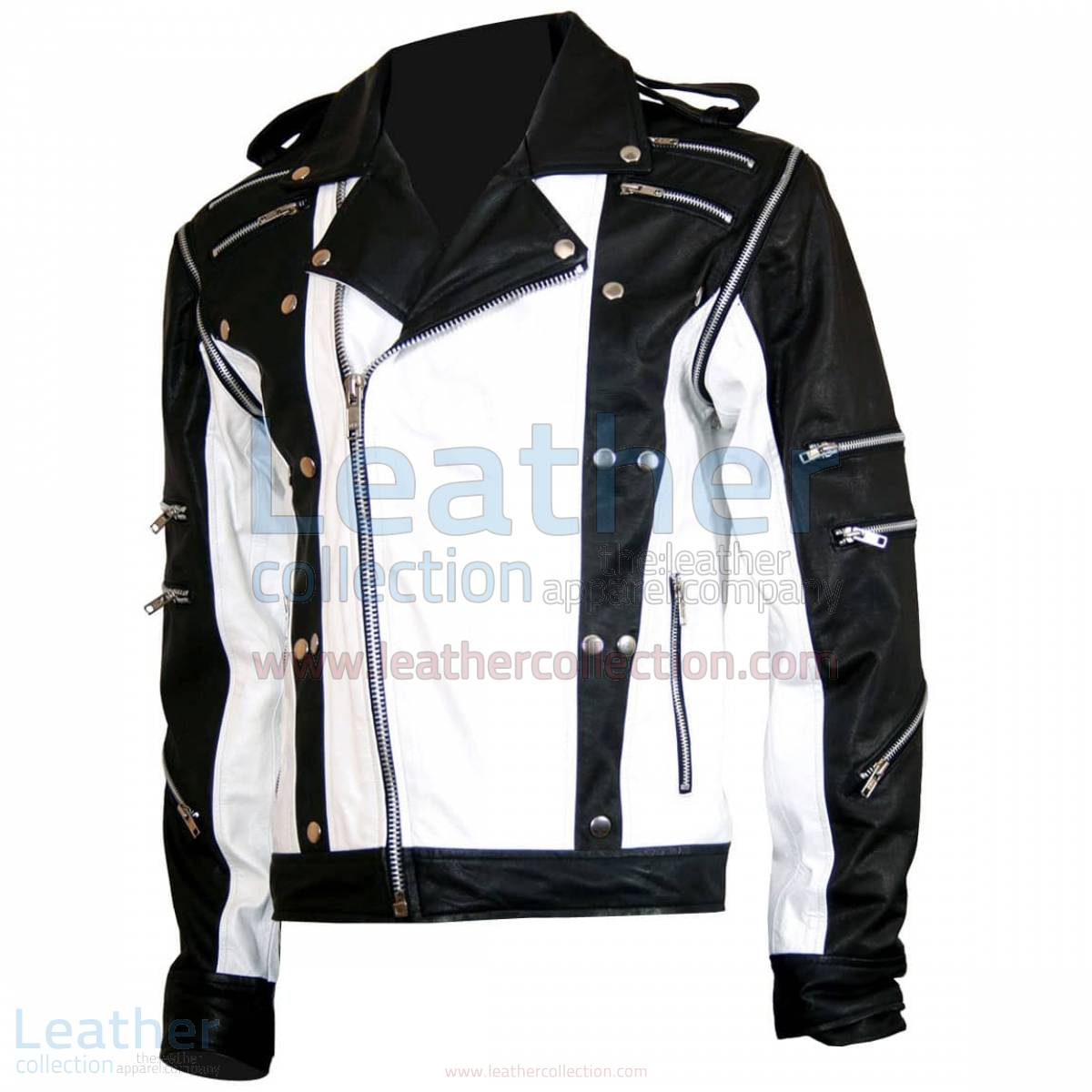 Michael Jackson Pepsi Black & White Leather Jacket –  Jacket