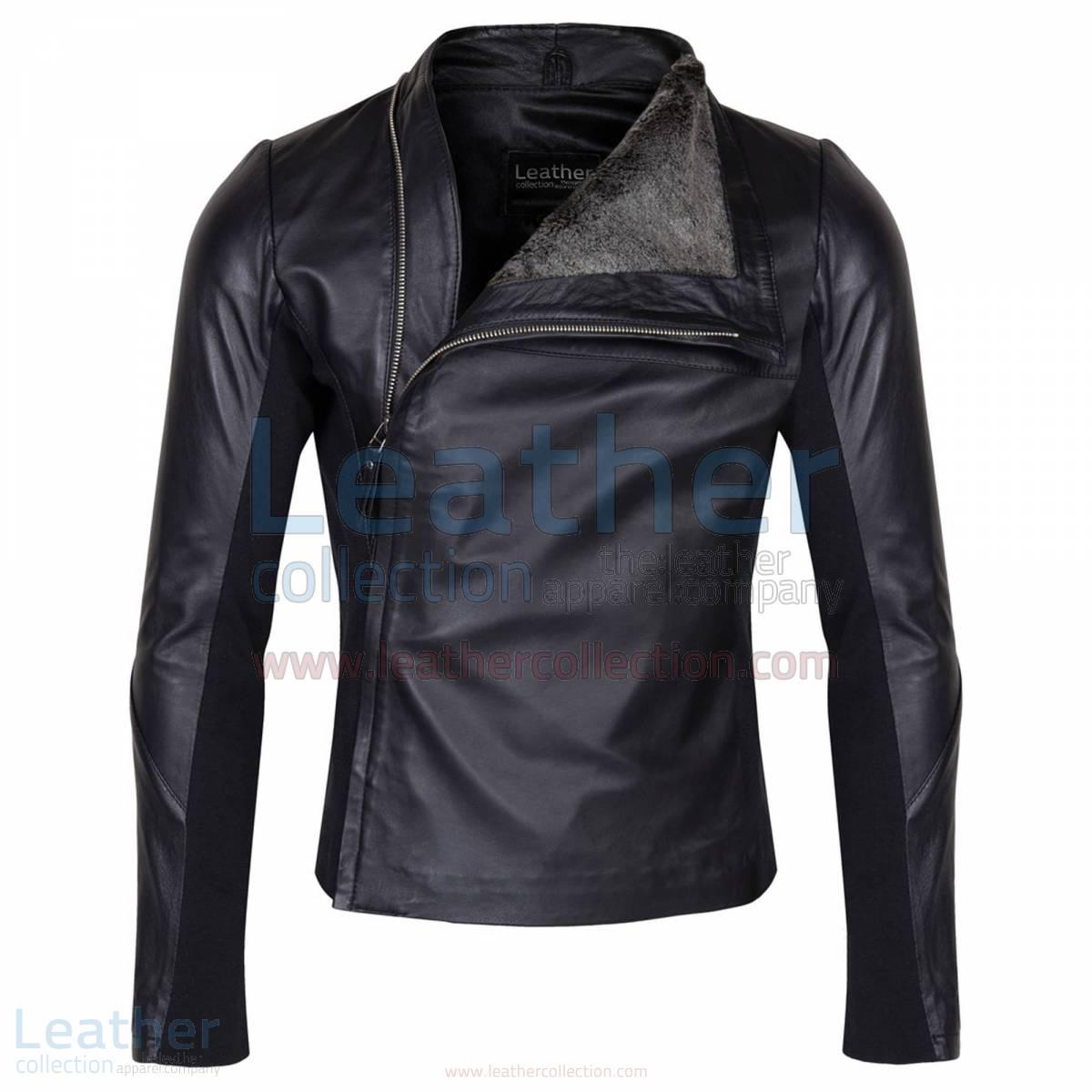 Slim & Smart Leather Jacket with Fur Lining –  Jacket