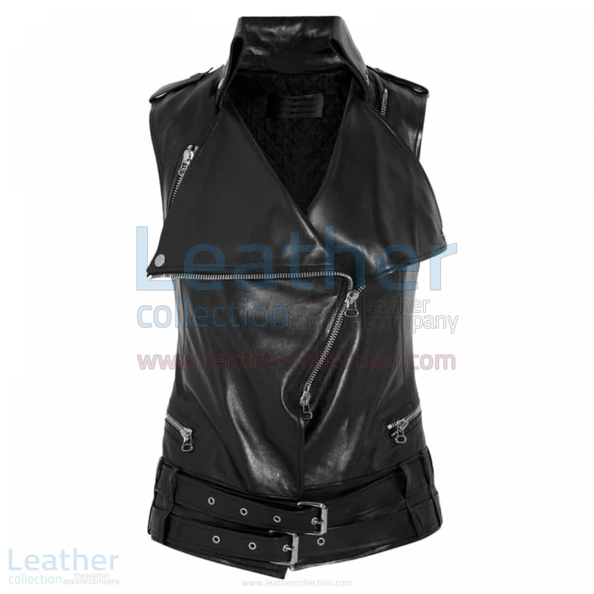 Smart Ladies Leather Vest