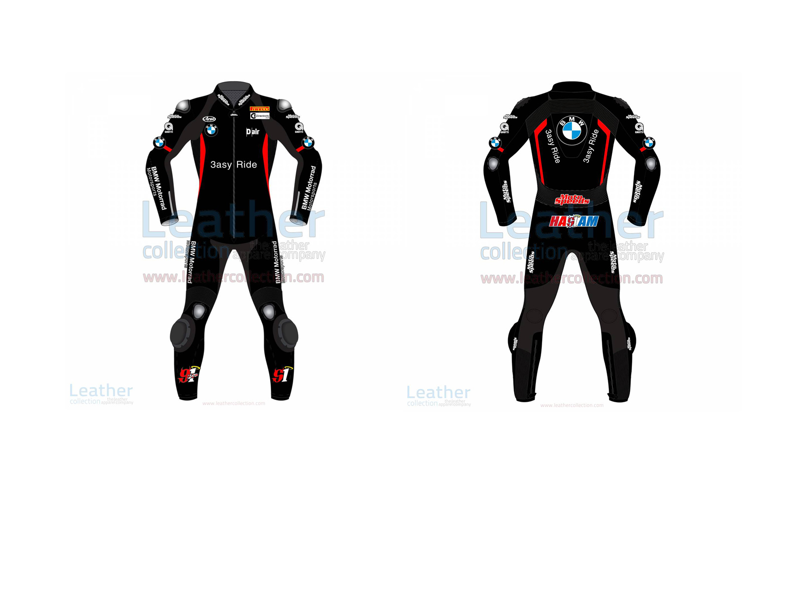 LEON HASLAM BMW WSBK 2011 LEATHER SUIT