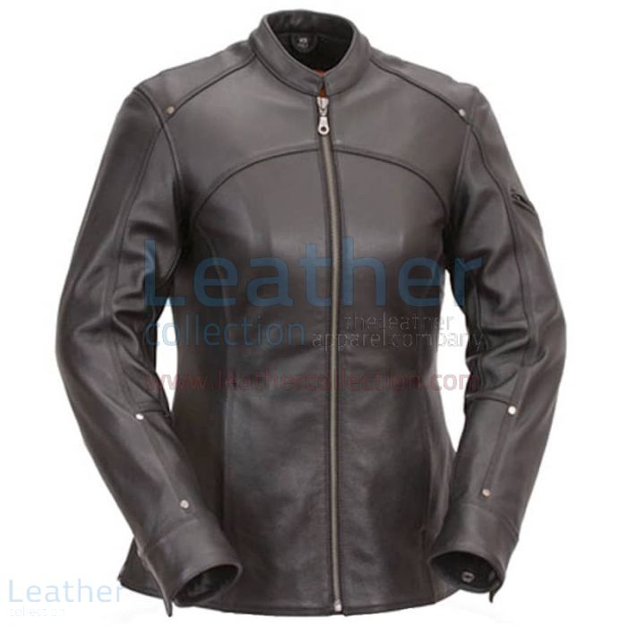 Claim 3/4 Length Touring Motorcycle Leather Jacket for $249.00