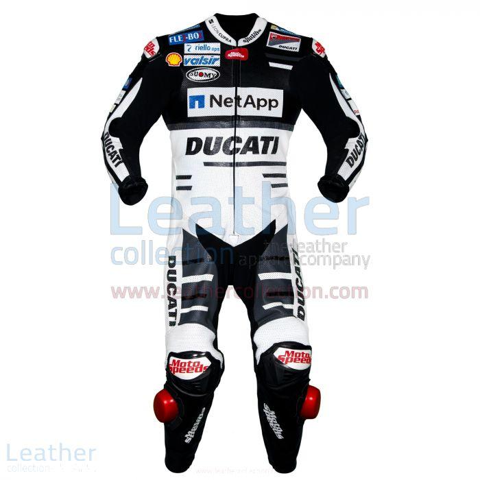 Comprare on line Andrea Dovizioso Ducati MotoGP 2018 Tuta in Pelle Ner