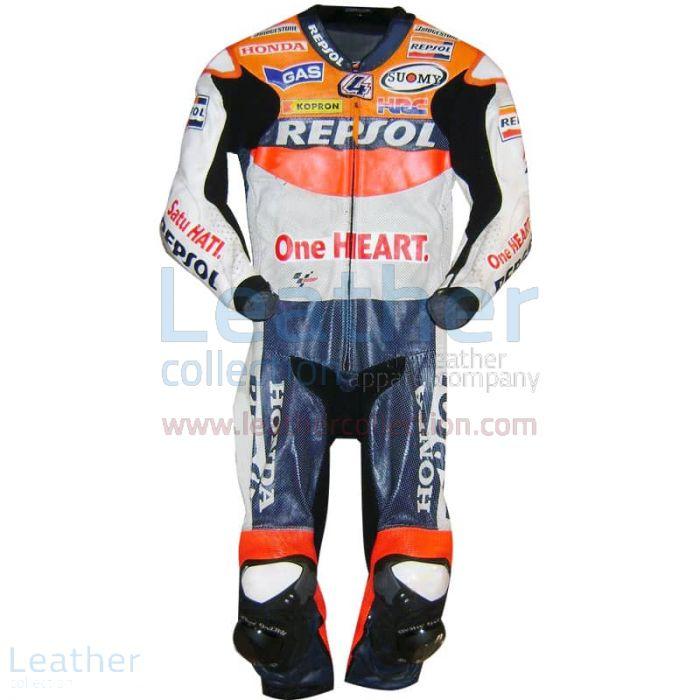 Raccogliere Andrea Dovizioso Repsol Honda 2010 MotoGP Tuta in Pelle