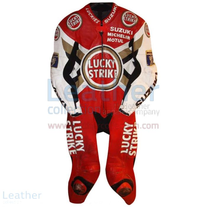 Anthony Gobert Suzuki Lucky Strike 1997 MotoGP Leathers front view