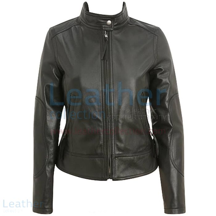 Pick Now Band Collar Leather Motorcycle Jacket for ¥24,640.00 in Japa