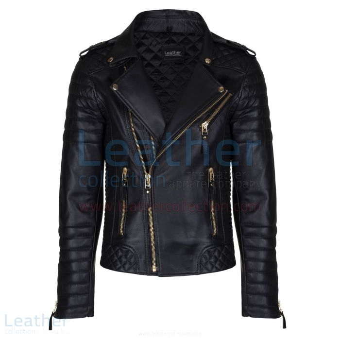 Black Quilted Leather Jacket Mens Purchase Online – Leather Collection