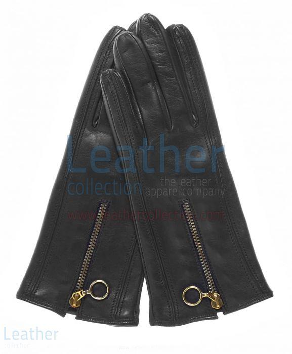 Kauf Cashmere Gefüttert Leder Handschuhe mit Reißverschlüssen Germa