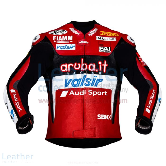 Chaz Davies Ducati Leather Jacket 2018 WSBK front view