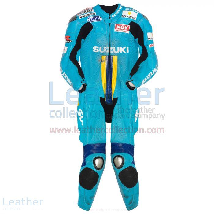 Shop Now Chris Vermeulen Suzuki MotoGP 2007 Leather Suit for SEK7,911.
