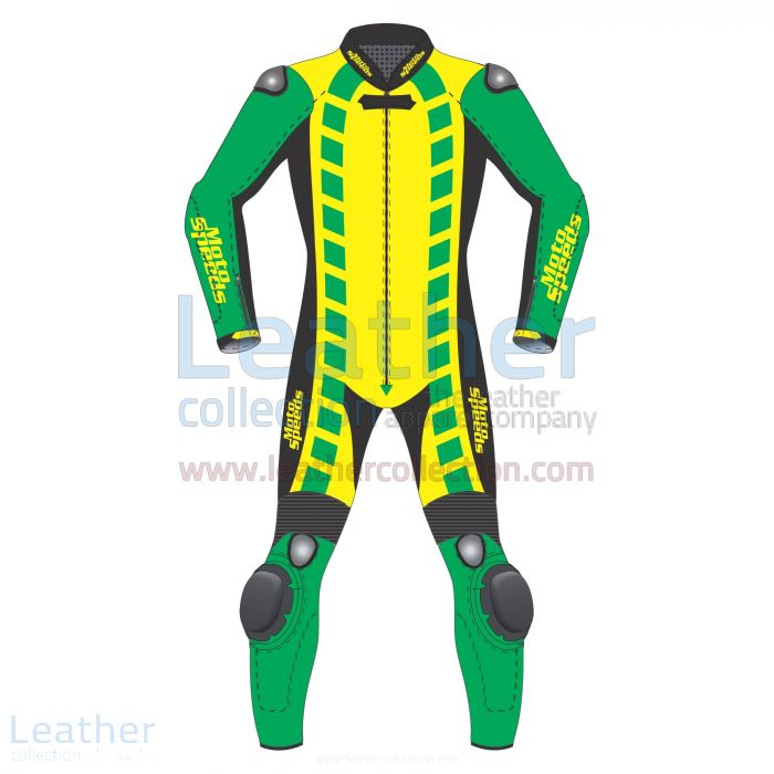 Diamond Leather Racing Suit Front View