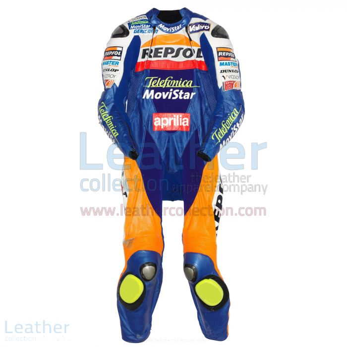 Fonsi Nieto Leather Suit Aprilia GP 2003 Front View