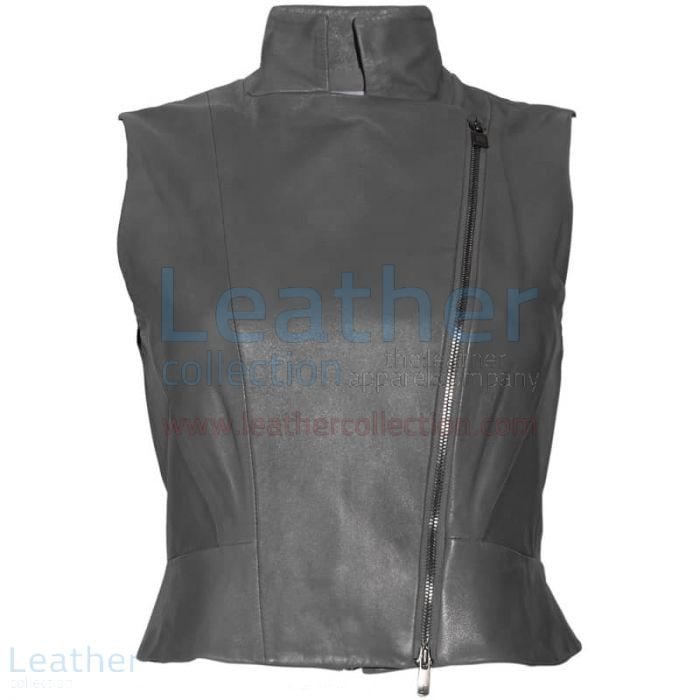 Compra Chaleco Cuello Alto Mujer – Chaleco de Cuero – Leather Collection