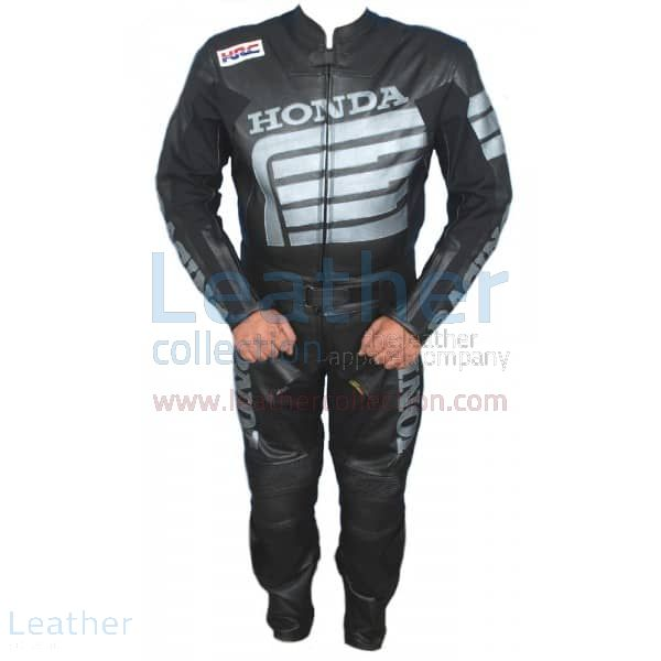 Honda Motorcycle Leather Suit Front