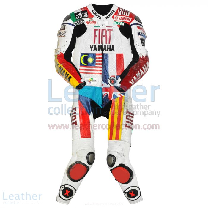 16 Flaggen Entwurf | Einkaufen Jorge Lorenzo Yamaha MotoGP 2008 Leder