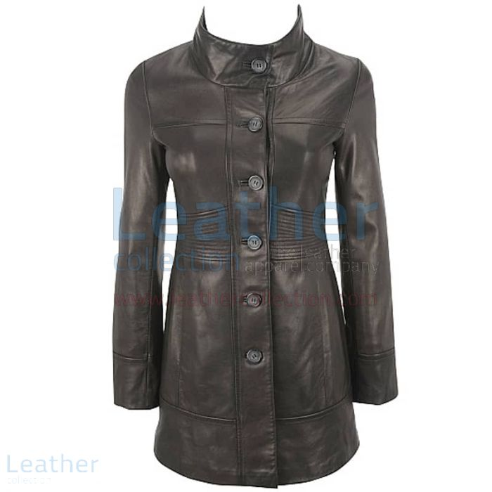 Buy Ladies 3/4 Length Coat With Trapunto Stitched Waist for $299.00