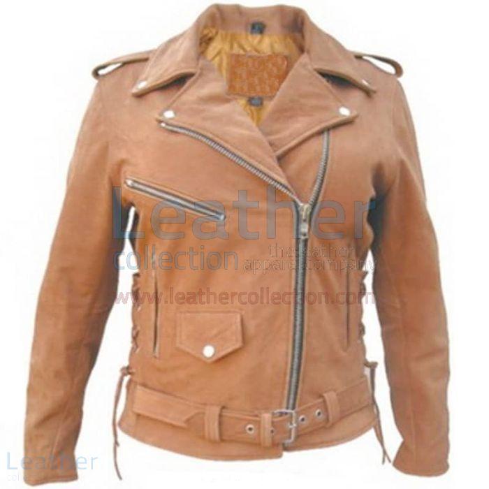 Erhalten Damen braune Motorradjacket bei Leather Collection